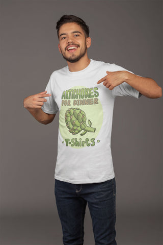 """Artichokes For Dinner • T-Shirts"" Logo - Heavy Cotton - Funny Graphic Tees - Artichokes For Dinner • T-Shirts"