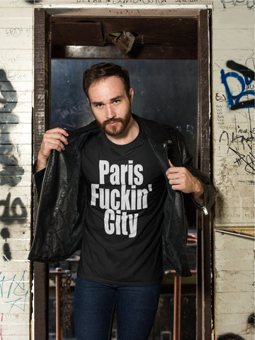 """Paris Fuckin' City"" - Heavy Cotton Tee - Paris Souvenirs - Artichokes For Dinner • T-Shirts"