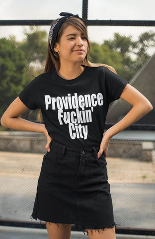 """Providence Fuckin' City"" - Providence Pride - Heavy Cotton Tee - Artichokes For Dinner • T-Shirts"