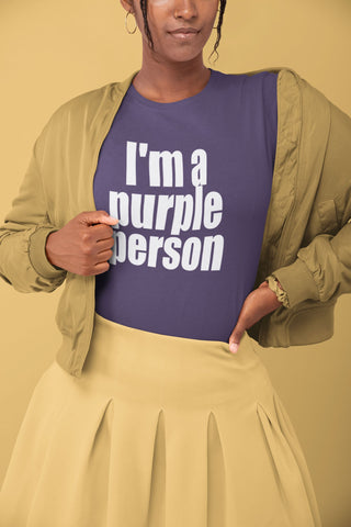 """I'm a purple person"" - Heavy Cotton Graphic Tee - Be Good - Artichokes For Dinner • T-Shirts"