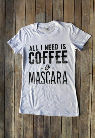 Coffee & Mascara - T-shirts - Brooklyn T Factory