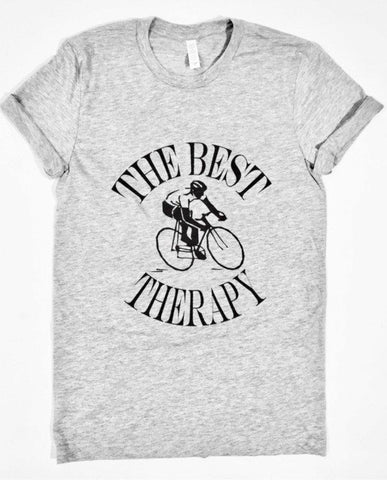 The Best Therapy Cyclist -  T-Shirt - Brooklyn T Factory