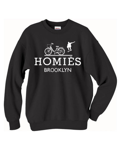 Homies Brooklyn inspired logo infamous parody crew neck Sweatshirts - Brooklyn T Factory