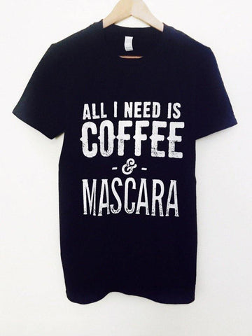 Coffee & Mascara Unisex - T-Shirts - Brooklyn T Factory