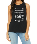 Follow me to the beach - Women's Flowy Tank Top - Brooklyn T Factory