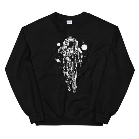 Astronaut Riding Road Bike Soft Funny Unisex Sweatshirt Great Gift - Brooklyn T Factory