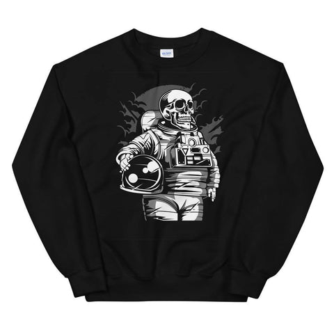 Astronaut Skull Soft Comfortable Funny Unisex Sweatshirt Skeleton. - Brooklyn T Factory