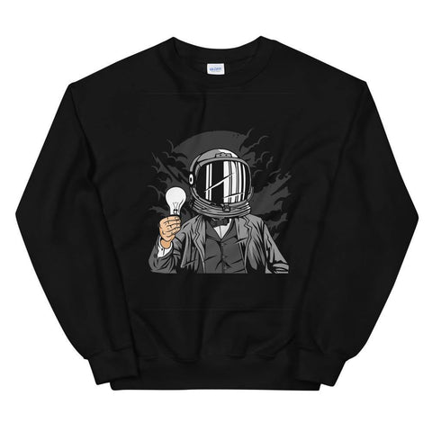 Astronaut with the Light Bulb Soft Comfortable Funny Unisex Sweatshirt - Brooklyn T Factory
