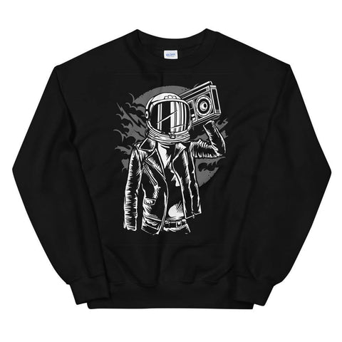 Astronaut with Boom Box Streetwear Soft Cozy Warm Unisex Sweatshirt - Brooklyn T Factory