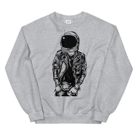 Astronaut Punk Light Soft Comfortable Funny Unisex Sweatshirt - Brooklyn T Factory