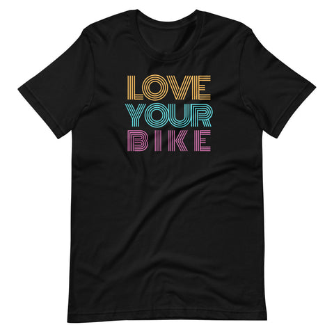 Love your Bike Unisex T-Shirt For Cyclist, Bike Commuters - Brooklyn T Factory