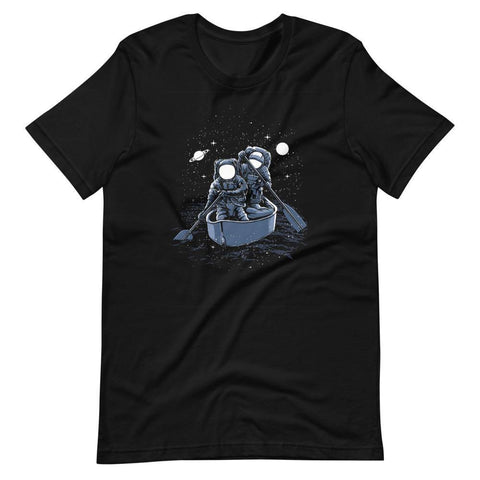 Astronaut Crossing Galaxy Unisex T-Shirt - Brooklyn T Factory
