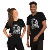 Astronaut Drinking Beer Unisex T-Shirt - Brooklyn T Factory