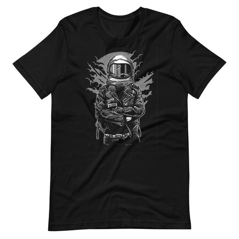 Astronaut in Leather Jacket Unisex T-Shirt - Brooklyn T Factory