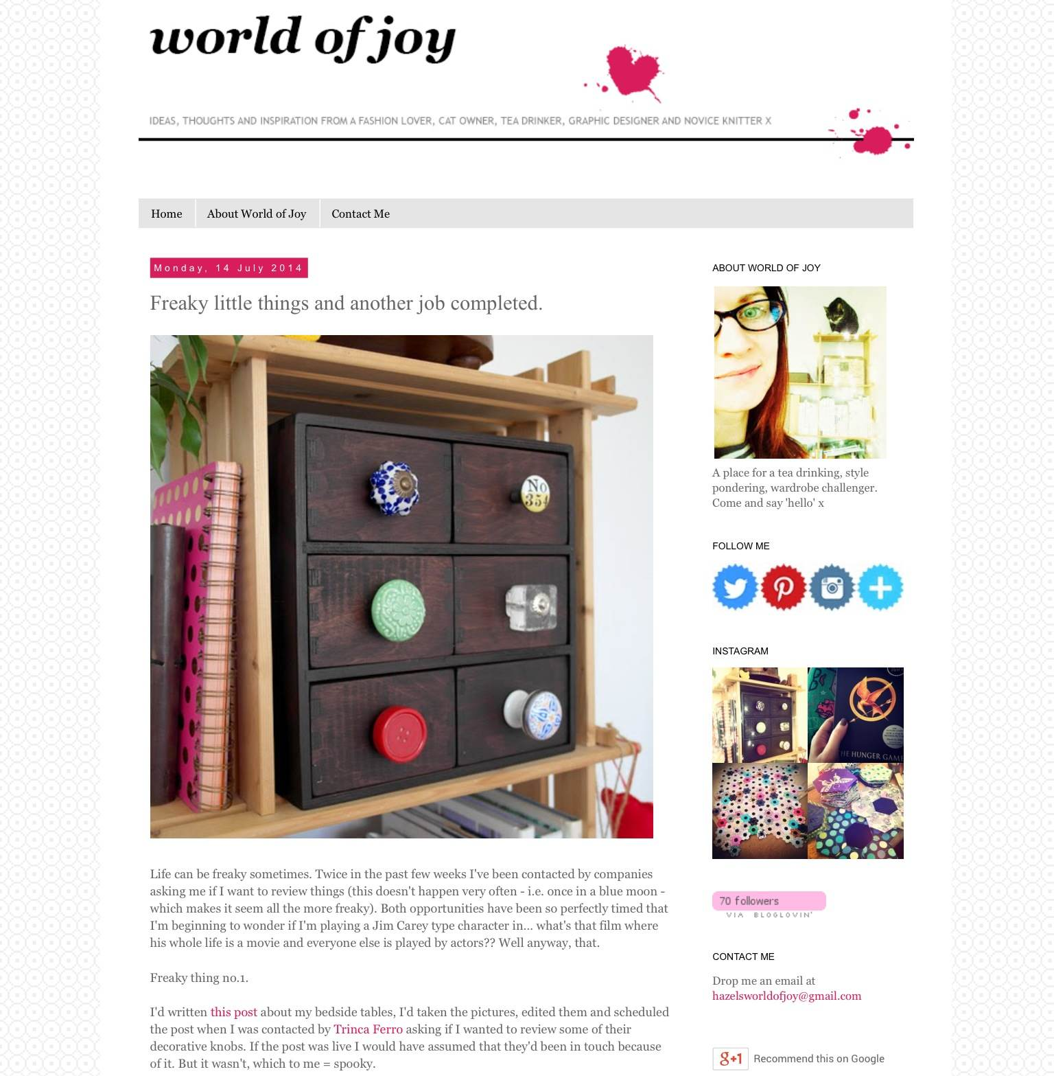 World of Joy Blog