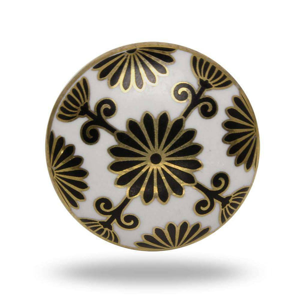 Set of Six Ceramic Tunis Cabinet Round Knob Multipack