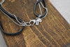.925 Sterling Silver 'CALYSTO MIKRO' layered leather necklace