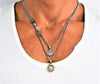 .925 Sterling Silver 'ETHNIKI' single/double layer medallion necklace