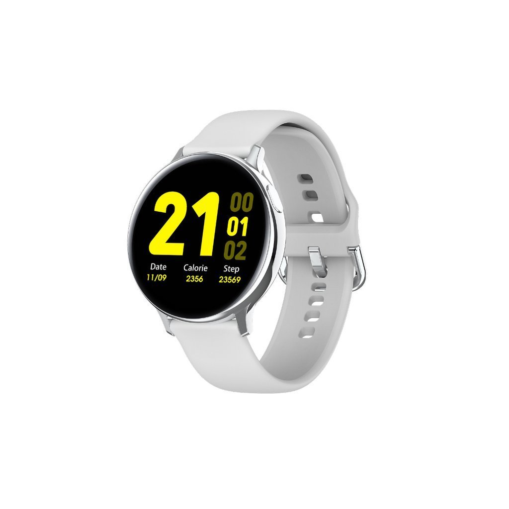 Smart Watch Round Face Health Monitoring and Activity Tracker Smartwatches WHITE