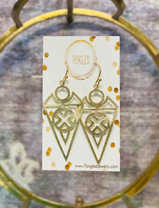 Edgy Arrow Earrings Gold