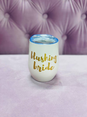 Blushing Bride Wine Tumbler