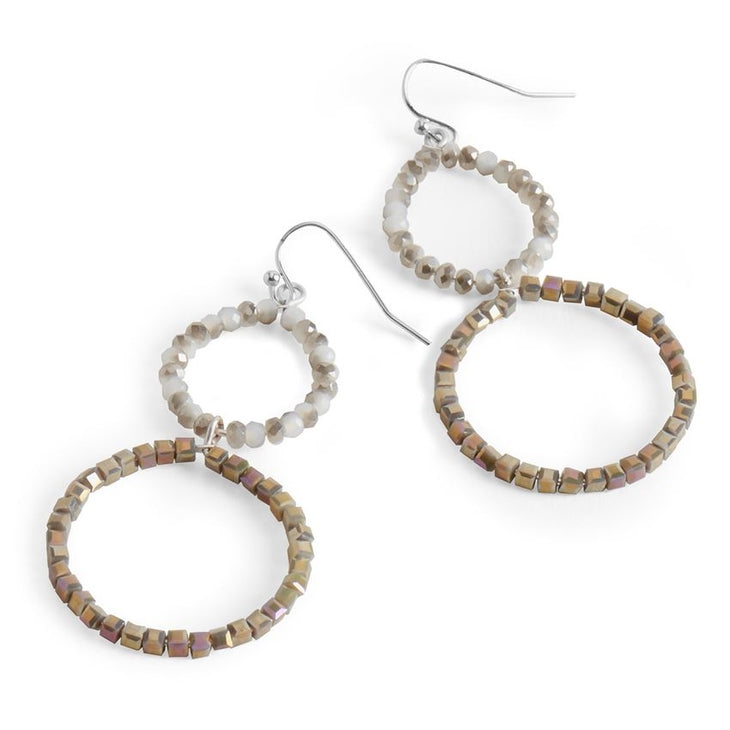 Hoop Times Two Earring-Taupe