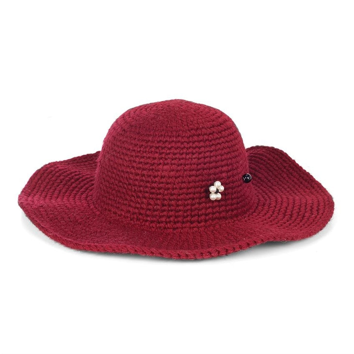 Packable Floppy Hat With Stick Pin- Tawny Port