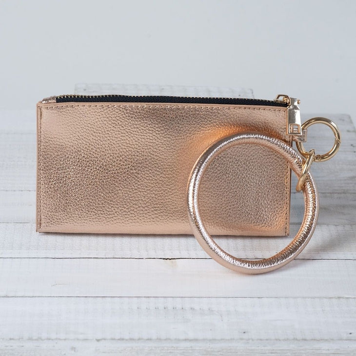 Bracelet Keychain and Wristlet Rose Gold
