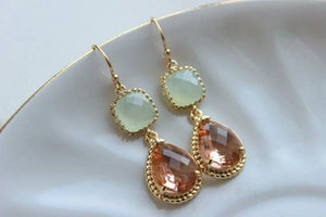 Soft Mint Blush Champagne Earring