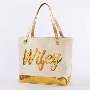 Gold Wifey Tote