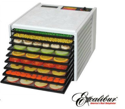 Excalibur 3900 Series Food Dehydrator (White) - www.SuperHerbals.com
