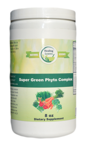 Super Green Phyto Complex 8 OZ Concentrate - www.SuperHerbals.com