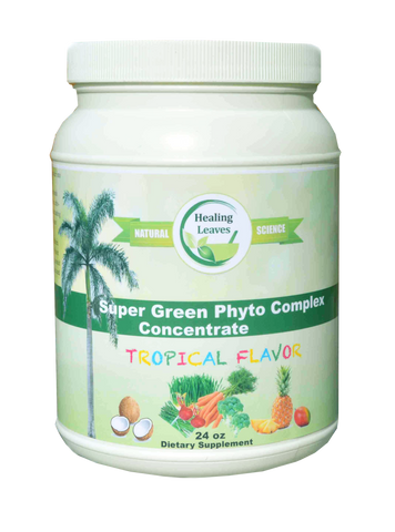 Super Green Phyto Complex Tropical Flavor - www.SuperHerbals.com