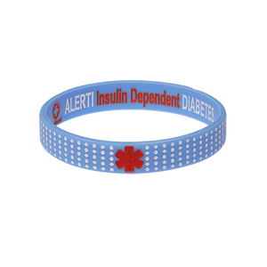 Diabetes Insulin Dependent - Blue Dot Wristband