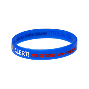 Warfarin Alert Wristband