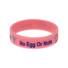 Load image into Gallery viewer, Egg & Nut Allergy Pink Wristband