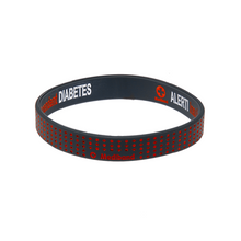 Load image into Gallery viewer, Diabetes Insulin Dependent - Red Dots Reversible Wristband