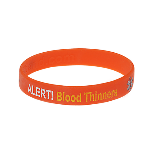 Blood Thinners Bleeding Risk Alert Wristband