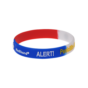 Penicillin Allergy Red & Blue Wristband