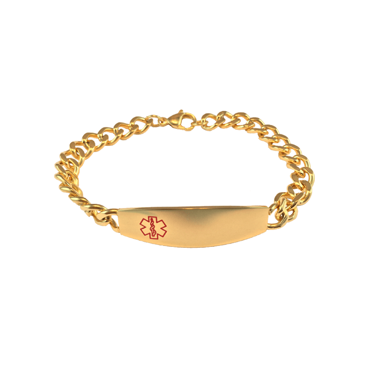 Stainless Steel Gold Curve Bracelet Blank