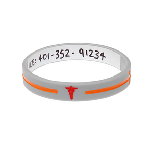 Silver Cross - Reversible Write On Wristband