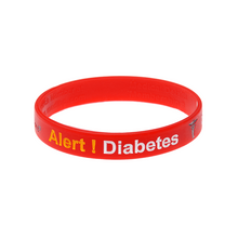 Load image into Gallery viewer, Diabetes - Red Reversible Write On Wristband