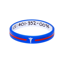 Load image into Gallery viewer, Blue Cross - Reversible Write On Wristband