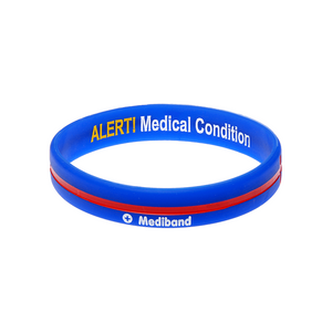 Blue Cross - Reversible Write On Wristband