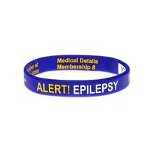 Load image into Gallery viewer, Epilepsy Alert - Reversible Write On Wristband