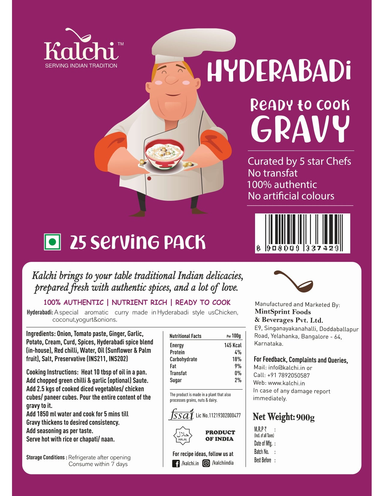 Hyderabadi Gravy (900 gm)