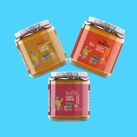 Three On A Spree - 2 Non-Veg & 1 Veg Curry Spreads | Value Pack of 3