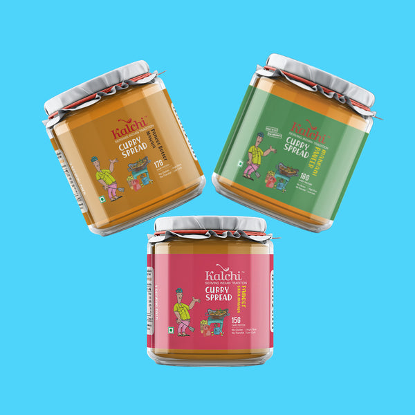 Three On A Spree - All Paneer Curry Spreads | Value Pack of 3