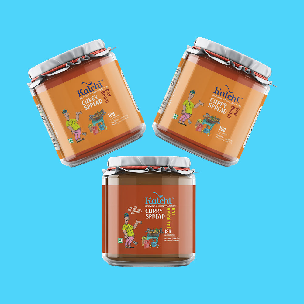 Three on a Spree - All Veg curry spreads | Value pack of 3