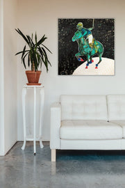 Polo-Lune Reproduction on Canvas